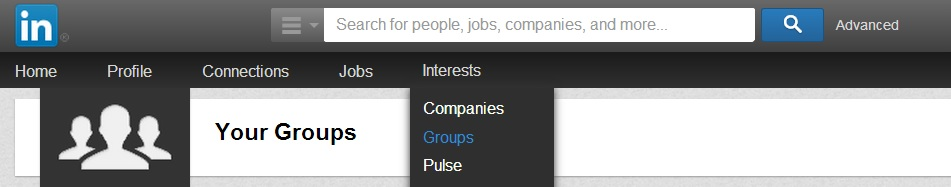 linkedin groups option